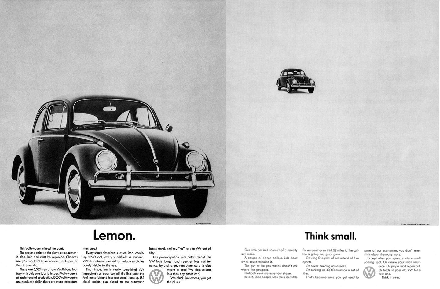 Think Small Or How The Way We Make Ads Was Changed Forever Life In Cmyk